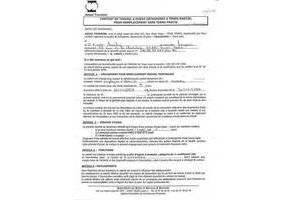 Exemple contrat de travail hotesse document online for Exemple contrat entretien espaces verts